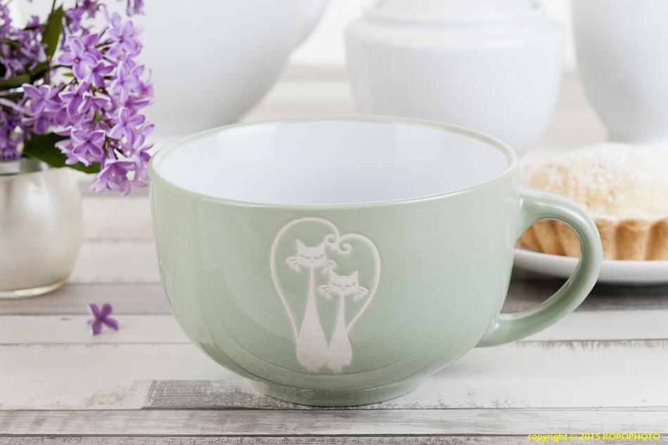 Duży Kubek Z Ceramiki Koty Do Herbaty Kubas 450ml Na Bazarekpl